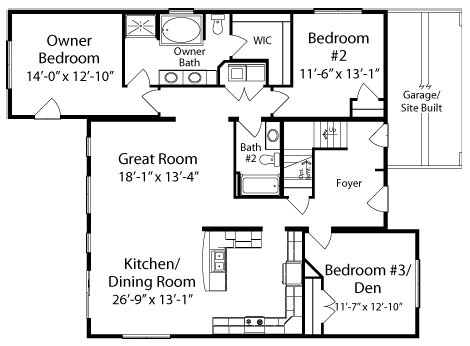 Lakewood by all american homes cape cod floorplan for Simple cape cod floor plans