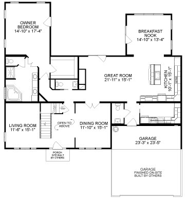 by All American Homes Cape Cod Floorplan