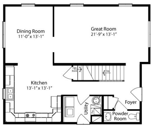 Taunton by all american homes two story floorplan for American home builders floor plans