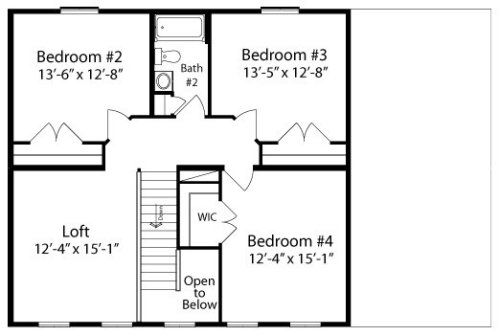 Tyler by all american homes two story floorplan for All american homes floor plans