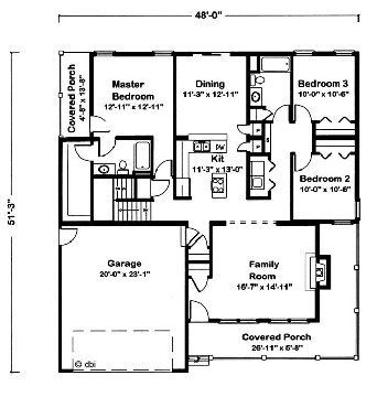 Blue Ridge by Excel Modular Homes Ranch Floorplan on