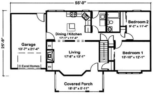 Cape Vincent By Excel Modular Homes Cape Cod Floorplan