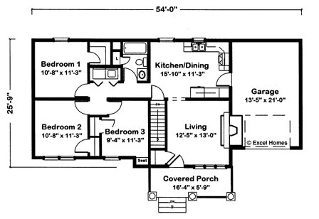 Floor plans for a 3 bedroom ranch house gurus floor for Mi homes ranch floor plans
