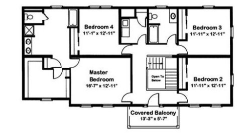 Jefferson by excel modular homes two story floorplan for Excel builders