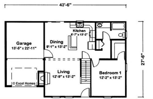 Ultima by Excel Modular Homes Cape Cod Floorplan