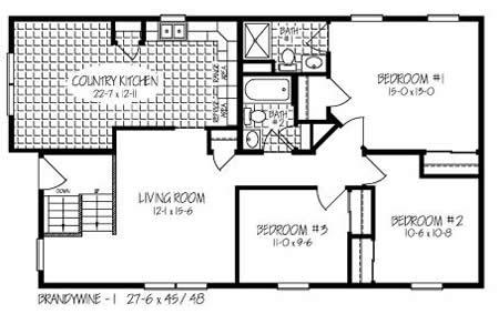 B127832 1 by hallmark homes bi level floorplan for Bi level home plans