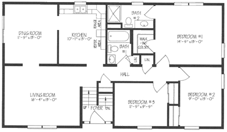 bi level floor plans b132032 1 by hallmark homes bi level floorplan 16388