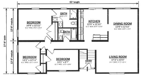 B137532 2 by hallmark homes bi level floorplan for Bi level home designs