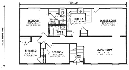 B162132 1 by hallmark homes bi level floorplan for Bi level home designs