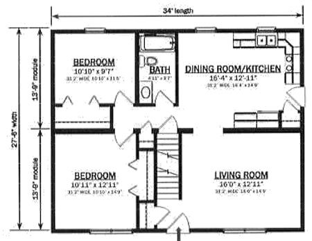 C093521 2 by hallmark homes cape cod floorplan for Cape cod modular home floor plans