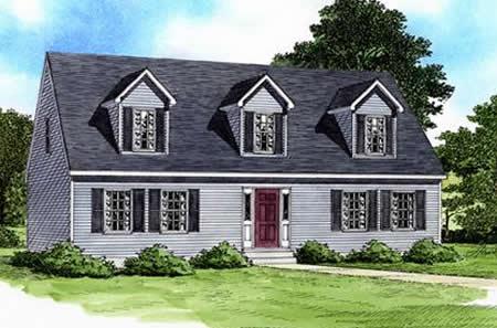 C096021 2 by hallmark homes cape cod floorplan for Modular cape cod house plans