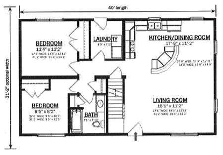 C124721 2 by Hallmark Homes Cape Cod Floorplan