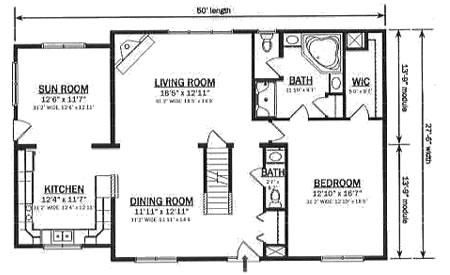 C134312 2 by hallmark homes cape cod floorplan for Hallmark homes floor plans