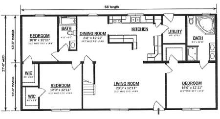 C154032 1 by hallmark homes cape cod floorplan for Hallmark homes floor plans