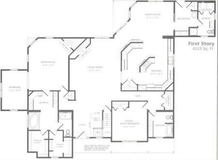 C280323 1 by hallmark homes cape cod floorplan for Hallmark homes floor plans