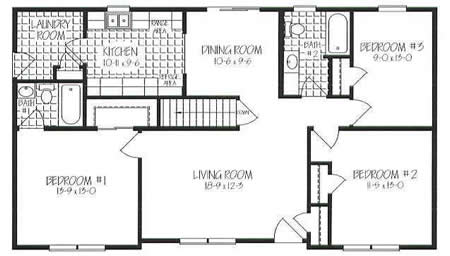 R130232 1 by Hallmark Homes Ranch Floorplan
