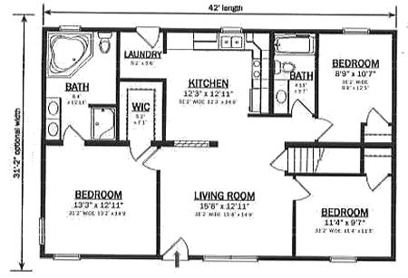 R130932 1 by hallmark homes ranch floorplan for Hallmark homes floor plans