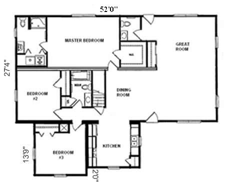 R178433 1 by hallmark homes ranch floorplan for Hallmark homes floor plans