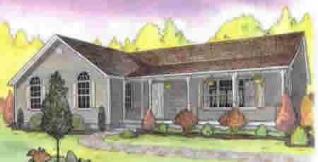 R181542 1 by hallmark homes ranch floorplan for Hallmark homes floor plans