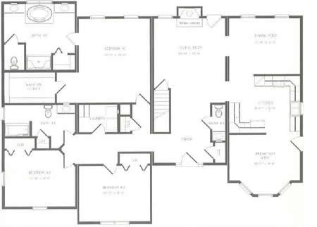 R215633-1 by Hallmark Homes Ranch Floorplan