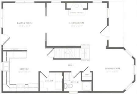 T195433 1 by hallmark homes two story floorplan for Hallmark homes floor plans