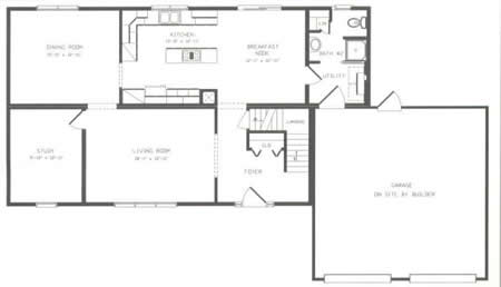 T225833 1g by hallmark homes two story floorplan for Hallmark homes floor plans