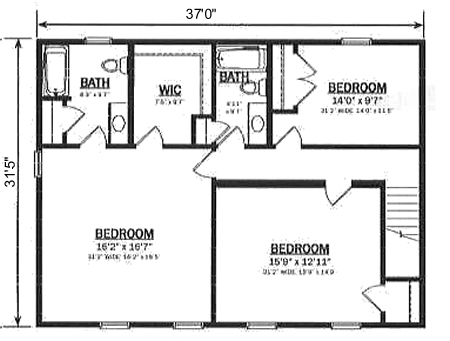 T230733 1 By Hallmark Homes Two Story Floorplan