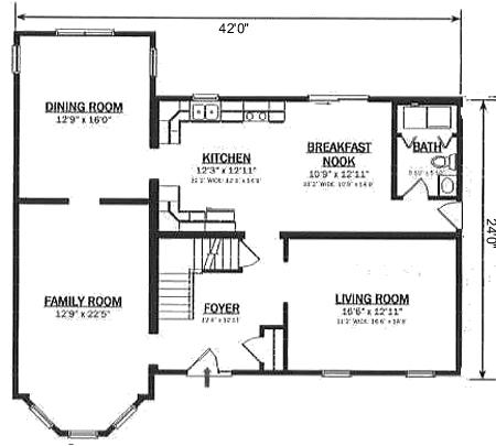 T234233 1 by hallmark homes two story floorplan for Hallmark homes floor plans