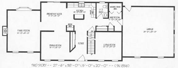 T239343 1g by hallmark homes two story floorplan for Hallmark homes floor plans