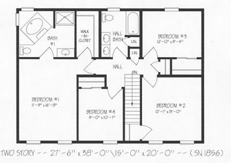 T239343-1G by Hallmark Homes Two Story Floorplan