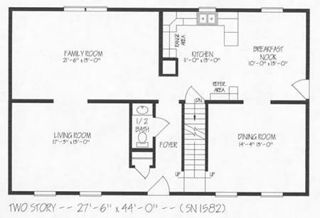 T242043 6 by hallmark homes two story floorplan for Hallmark homes floor plans