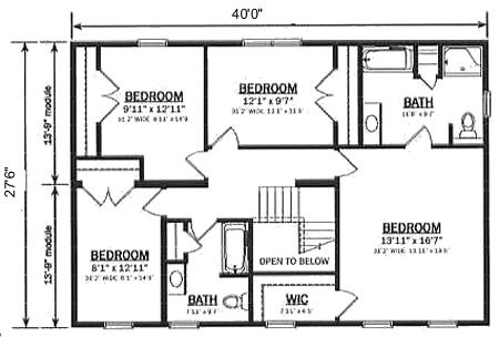 T249343 2 by hallmark homes two story floorplan for Hallmark homes floor plans
