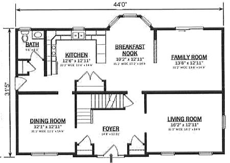 T274333 1 by hallmark homes two story floorplan for Hallmark homes floor plans