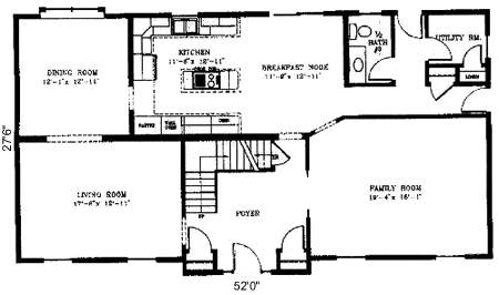 One and a half story house floor plans gurus floor for One story house plans with two master suites