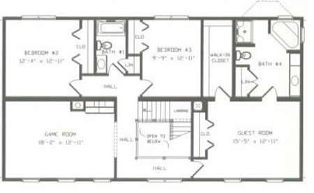 T341044 1g by hallmark homes two story floorplan for Hallmark homes floor plans