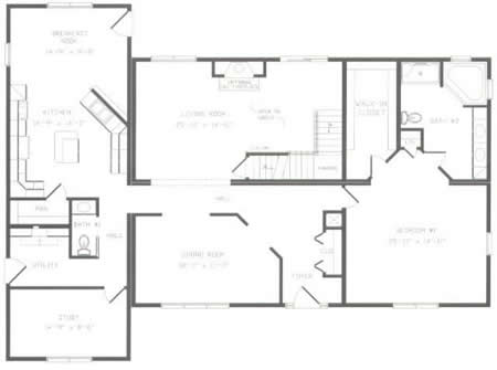 T368743 1 By Hallmark Homes Two Story Floorplan