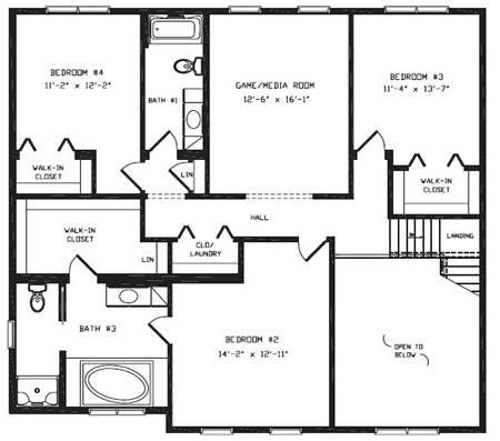 T376344 1 by hallmark homes two story floorplan for Hallmark homes floor plans