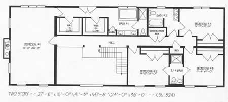 T484744 1g by hallmark homes two story floorplan for Hallmark homes floor plans