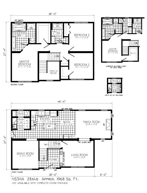 Ns311a Excalibur By Mannorwood Homes Two Story Floorplan