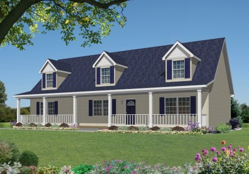 Ne302a covington by mannorwood homes cape cod floorplan for Cape cod style modular homes