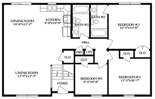 Mckean iii by professional building systems ranch floorplan for Professional house plans