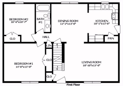 Northhampton iii by professional building systems cape cod for Simple cape cod floor plans