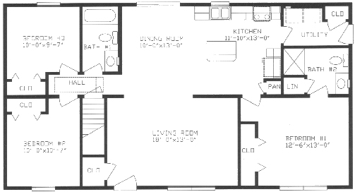 Split floor plans 1000 images about house floor plan Split bedroom ranch house plans