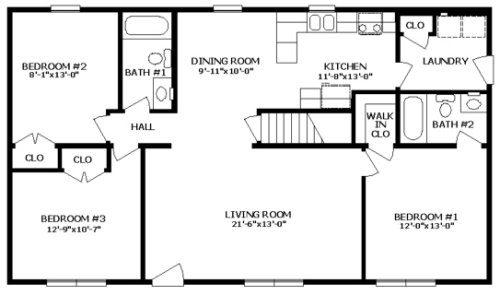 York Iii By Professional Building Systems Ranch Floorplan