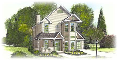 Chesapeake by penn lyon homes two story floorplan for Modular victorian homes