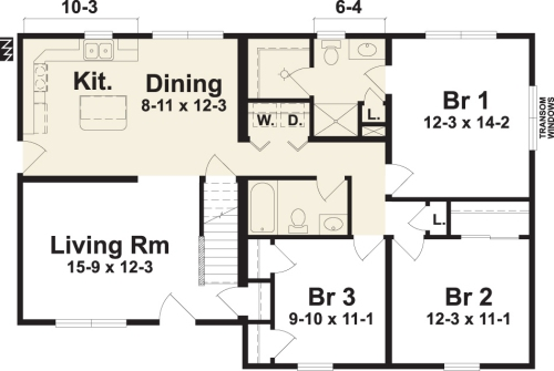 Ann Arbor I By Simplex Modular Homes Cape Cod Floorplan