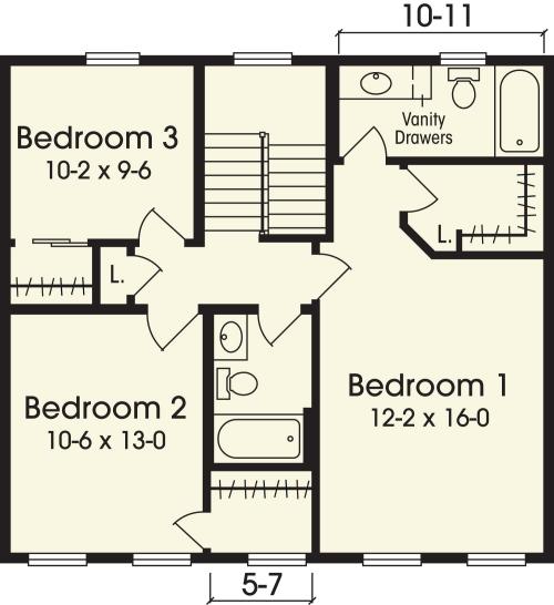 Jefferson Simplex Modular Homes Two Story Floorplan