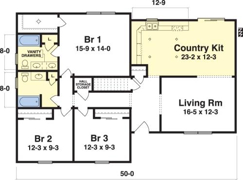 New oxford ii by simplex modular homes ranch floorplan for Oxford floor plan