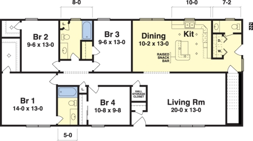 Rochester by Simplex Modular Homes Ranch Floorplan