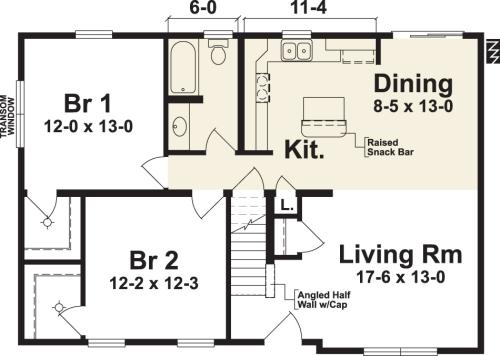 Sag Harbor IV by Simplex Modular Homes Cape Cod Floorplan